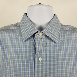Brooks Brothers Classic Non Iron Blue Check 16-34